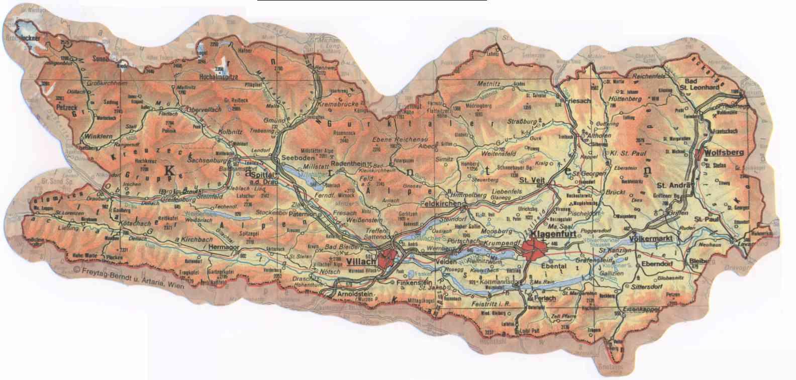 Landkarte Von Karnten