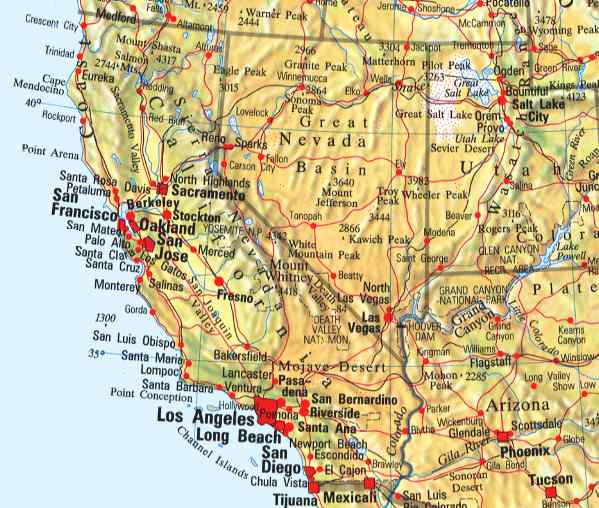 Usa West Coast Map Pin Usa West Coast Trip On PinterestPics - Map of the west coast of us